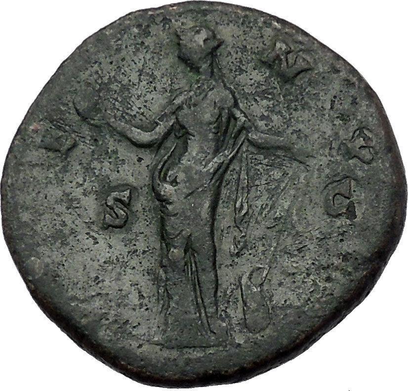 FAUSTINA II Marcus Aurelius Wife Sestertius Ancient Roman Coin Venus i54381 2