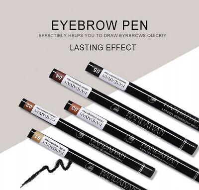 Microblading Tattoo Eyebrow 3D liquid Ink Pen waterproof 4 fork pencil brow UK 2