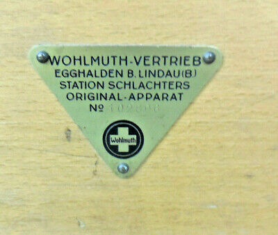 Wohlmuth Reizstromgerät, Heilgerät, Galvanische Heilkunde 2
