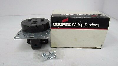 50a 3wire Flush Gnd Receptacle S PartNo 1254-BOX by Cooper Wiring Devices Inc