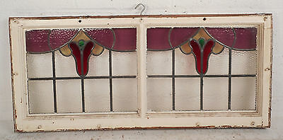 Vintage Stained Glass Window Panel (3119)NJ 3