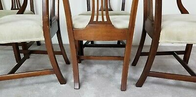 Set of 4 Antique English Chippendale Georgian Mahogany Dining Side Chairs Only 4
