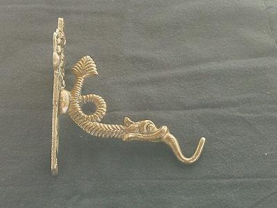 Vintage Brass Serpent plant coat/hat hanger. 2