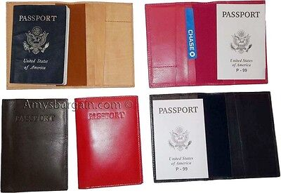 NEW INTERNATIONAL LEATHER passport cover wallet ID credit card ATM card case