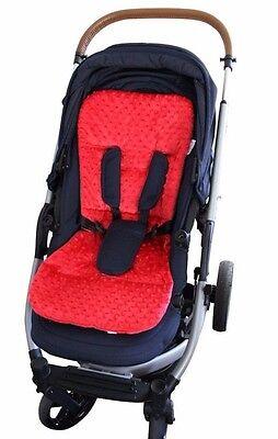 MINKY Pram Seat LINER Stroller INSERT Universal Reversible Grey Melange 2