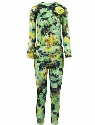 Girls FLORAL Print 2-Piece Lounge Wear Tracksuit Jogging Bottoms Top 11/12 years 2