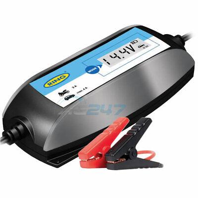 Ring RSC404 6v 12v Digital 4A Intelligent Smart Car Motorbike Battery Charger 5
