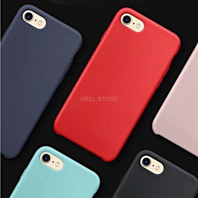 COVER per Iphone X /XS /Max/ XR / 8 /7/ 6 Plus CUSTODIA Slim Silicone Genuine 6