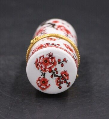 Chinese Porcelain plum blossom Toothpick Box Holder Storage Lucky Jewelry Box 5