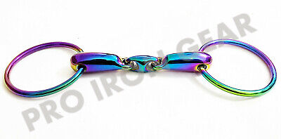 18mm Rainbow Stainless Steel HKM Loose Ring Snaffle Bit