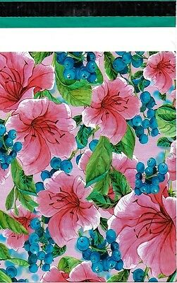 100 10x13 Pink Tropical Flowers Designer Poly Mailers Envelopes Custom Bags 3