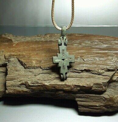 Bezantine Pendant Reliquary Cross ENKOLPION Kievan Rus.Viking 9-13 cen.AD#2527 4