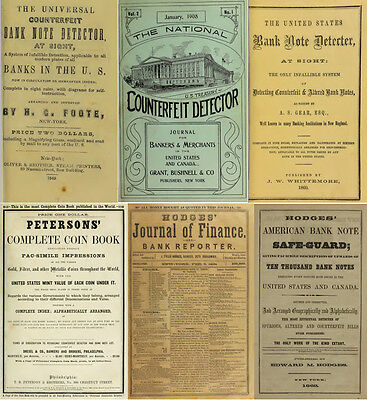200 Old Books & Publications On Money Counterfeiting & Counterfeit Detector Dvd 5