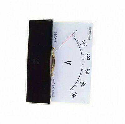 1pcs DC 500V Analog Panel Volt Voltage Meter Voltmeter Gauge 44C2 2