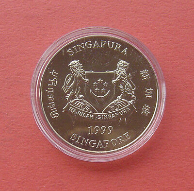 Singapore 1999 Parliament 5 Dollars Copper-nickel Proof-Like Coin 2