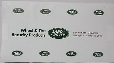Land Rover Discovery 2 Spare Tire Lock Lug Nut Kit OE LRN50310 1999-2004