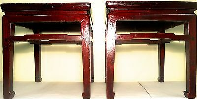 Antique Chinese Ming Meditation Bench/End Table (5315)(Pair), Circa 1800-1849 10