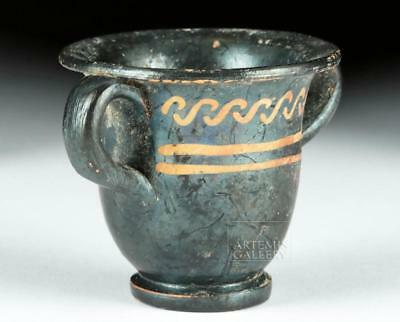 Miniature Greek Apulian Xenon Ware Krater Lot 24D