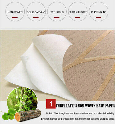 10M SHINY MODERN SWRIL CIRCLE EMBOSSED FLOCK TEXTURED NON-WOVEN WALLPAPER ROLL