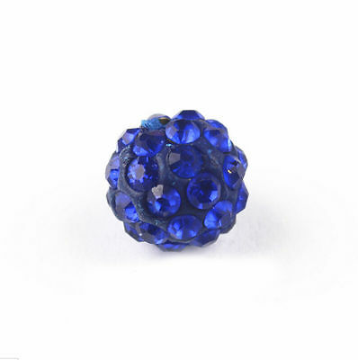 20 Quality Czech Crystal Rhinestones Pave Clay Round Disco Ball Spacer Bead 10mm 10