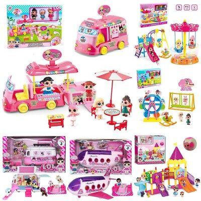 Kids Girls  Camper Car Playset Bus Aircraft Dolls Toy Xmas Gift