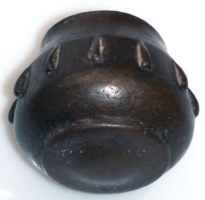 Originaler Bronze Rippenmörser Spanien Maurisch Kugelförmig 16. Jh. Mortar 4