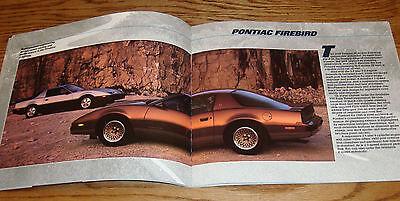 1985 Pontiac Full Line Large Deluxe Brochure Firebird//Trans Am//Fiero//Bonneville