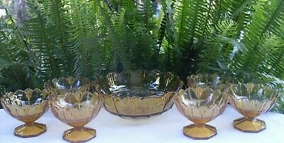 RARE Antique 1920's SOWERBY England HUMPHREY AMBER BOWLS SET VG Collectable Aust 5