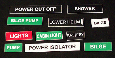 control panels etc workroom Bespoke Engraved Labels and small signs for boat