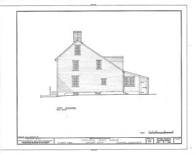 COLONIAL SALTBOX house plans timber frame and brick architectural