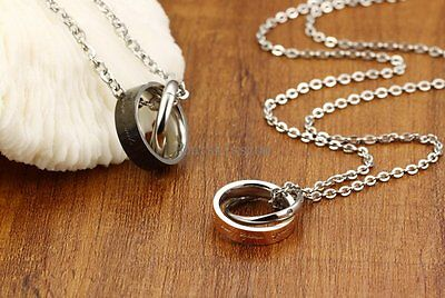 Steel Your Smile Make Me Happy Ring Necklace Boyfriend