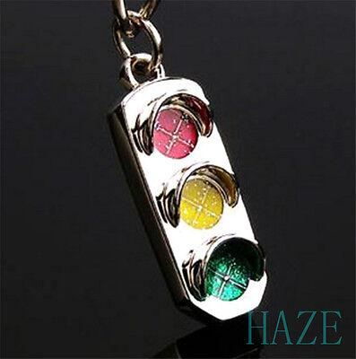 New Mini Traffic Light Car Key Ring Chain Classic 3D Keyfob Keychain Ring Gifts 3