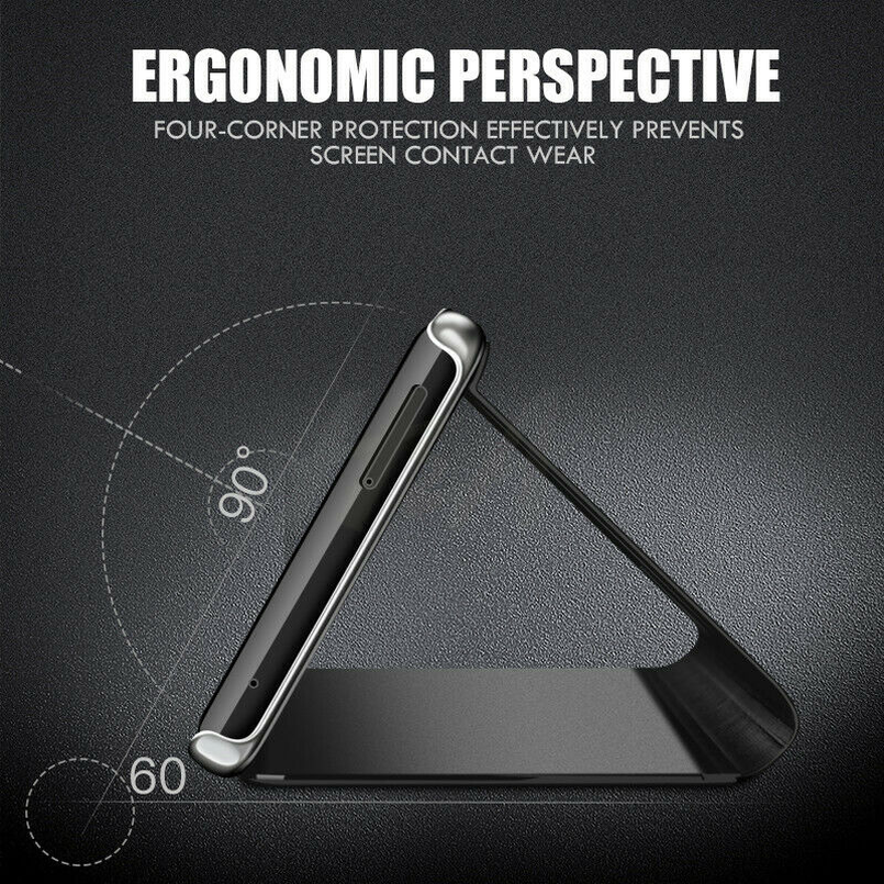 For Samsung Galaxy A70 A50 A40 A30 Smart Mirror Leather Flip Stand Case Cover 7