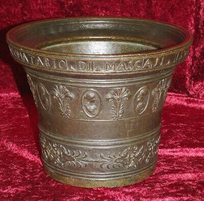 Italien Bronze Mörser Apotheke Postament Sizilien Catania Zanghi 1520 / 1820 4