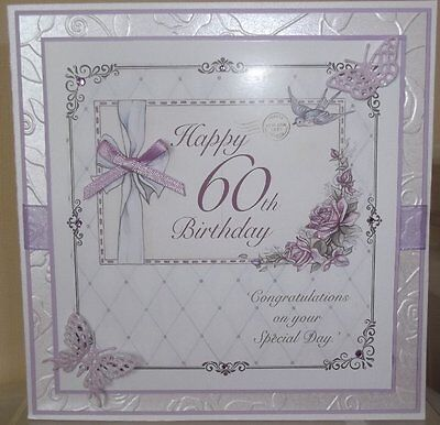 Handmade Luxury Vintage Female 60Th Birthday Card With Roses Butterflies 4
