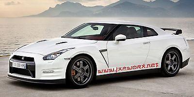 2 x JAPWORX JAPBALL TUNNEL RUN VINYL CAR STICKER jdm decal drift logo