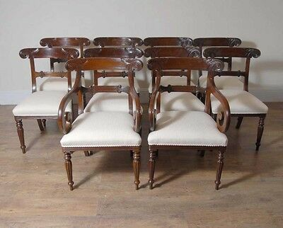 10 English William IV Dining Chairs Regency Chair 2