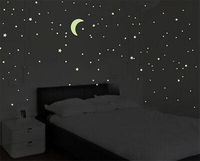 200 Wall Glow In The Dark Stars Stickers Kids Bedroom Nursery Room Ceiling Decor 7