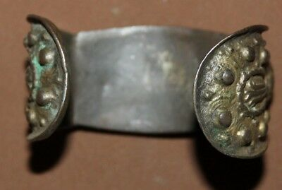 Antique Greek Orthodox folk silver plated fertility bracelet 4