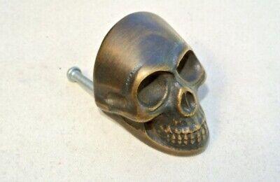 4 medium Skull hardware cabinet Drawer 4cm Gothic Finger Pull Solid age Brass B 7