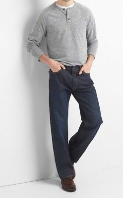 NWT Gap Jeans in Relaxed Fit, Dark Resin, 34x30 4