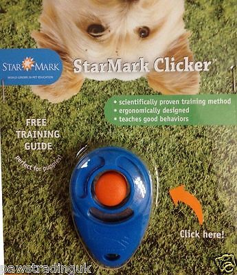 Pro Training Dog Clicker Starmark With Button Puppy Free Guide Teaching Tool