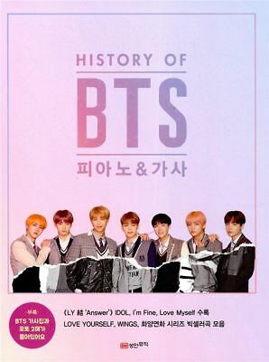 NEW History Of BTS Piano & Lyrics K-POP Bangtan Boys Piano Note Smyang Kpop BTS 8