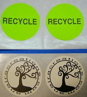 "Printed Round Stickers 1-3/4"" Diameter Circle Business 250 Custom Labels 1-Color"
