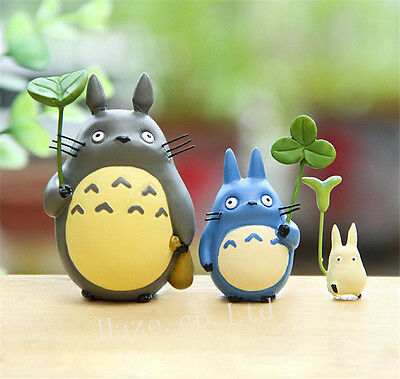 3pcs/Set Anime My Neighbor Totoro Resin Mini Figures Cosplay Model Doll 2