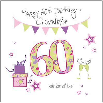 Personalised 60th Birthday Card Mum Gran Grandma Nan Nana Nanny Nanna Mam Mom 3 Of See More