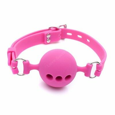Full Silicone Open Mouth Ball Gag in Adult Game Bondage Restraints Sex Products 2
