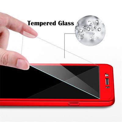 360° Full Cover Case + Tempered Glass For Samsung J3 J5 J7 Pro / J8 J6 J4 Plus 11