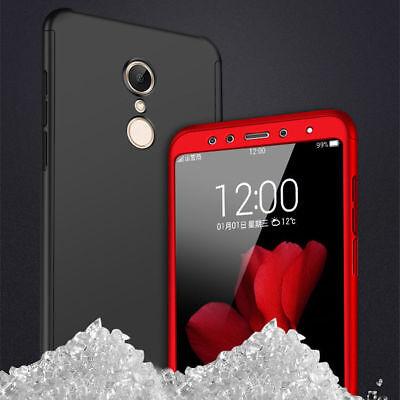 For Xiaomi Redmi 7 7A 6A Note 8 7 6 5 Pro 360° Full Cover Case + Tempered Glass 8