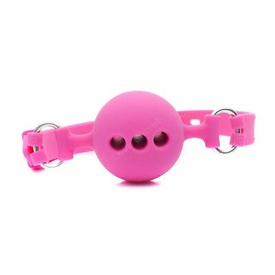 Full Silicone Open Mouth Ball Gag in Adult Game Bondage Restraints Sex Products 7